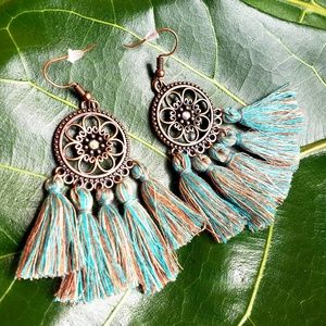 Jewelry - 🆕️Festival Tassel Bohemian Sea Gem Earrings🆕️